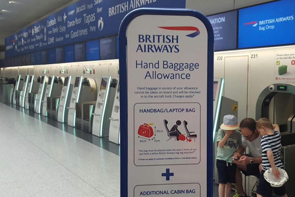 Die Fluglinie British Airways hat für diesen Samstag alle Flüge aus London gestrichen.