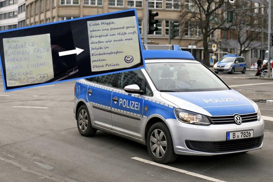 Berliner Polizei bekommt Knöllchen von Neunjähriger