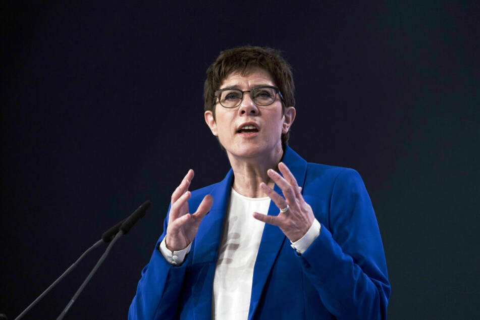 Annegret Kramp-Karrenbauer während des CDU-Parteitags in Leipzig.