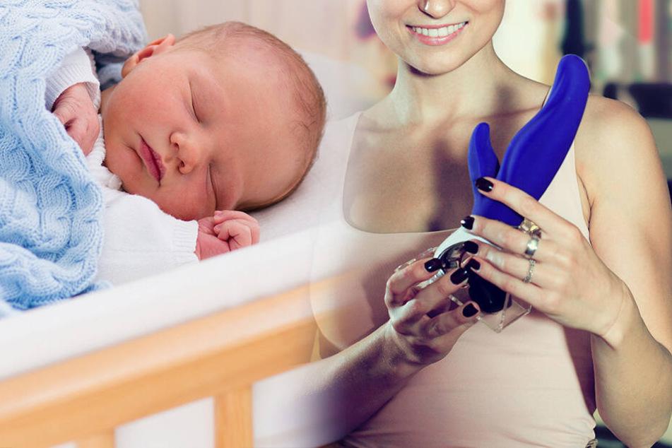 Mutter benutzt Vibrator bei ihrem Baby und wird dafür gefeiert