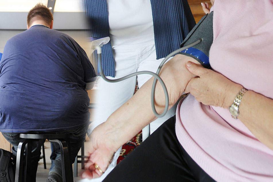 Fettleibigkeit wirkt sich negativ auf die Blutdruck-Werte aus.