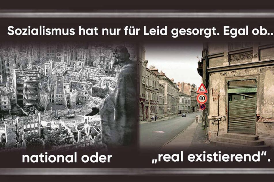 Auf Facebook vergleicht die Sachsen-CDU den Nationalsozialismus mit dem DDR-Sozialismus.