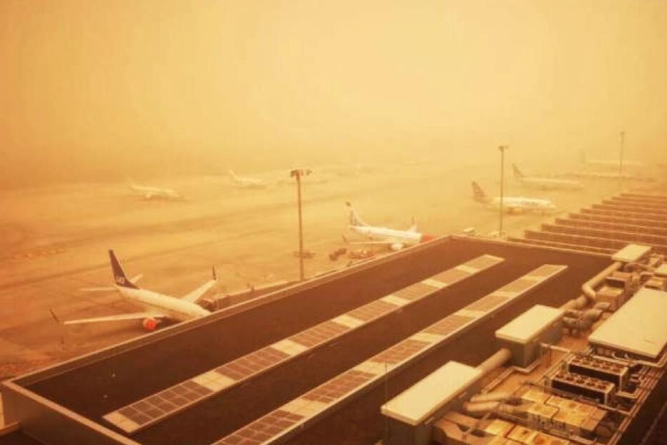Aufgrund von Sandstürmen lagen die Sichtweiten auf den Kanaren nur bei einigen hundert Metern.