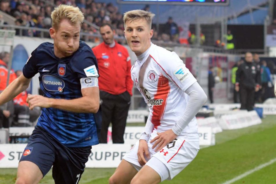 Joel Keller (rechts) kam in dieser Saison noch nicht in der 2. Bundesliga zum Einsatz.