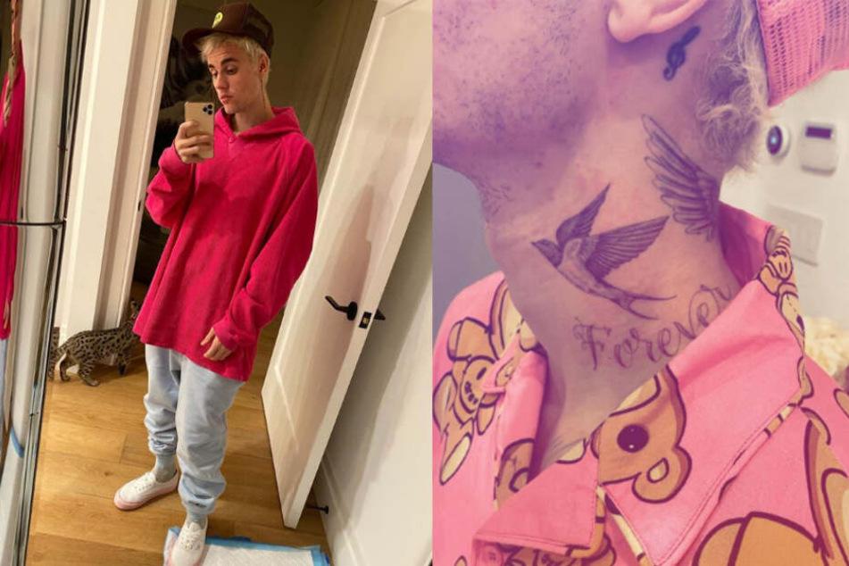 Der beliebte Sänger zeigte sich mitten am Tag mit Teddybären-Muster. Ein Teil der seltsamen Verkleidung ist auch auf Justins Instagram-Kanal zu sehen.