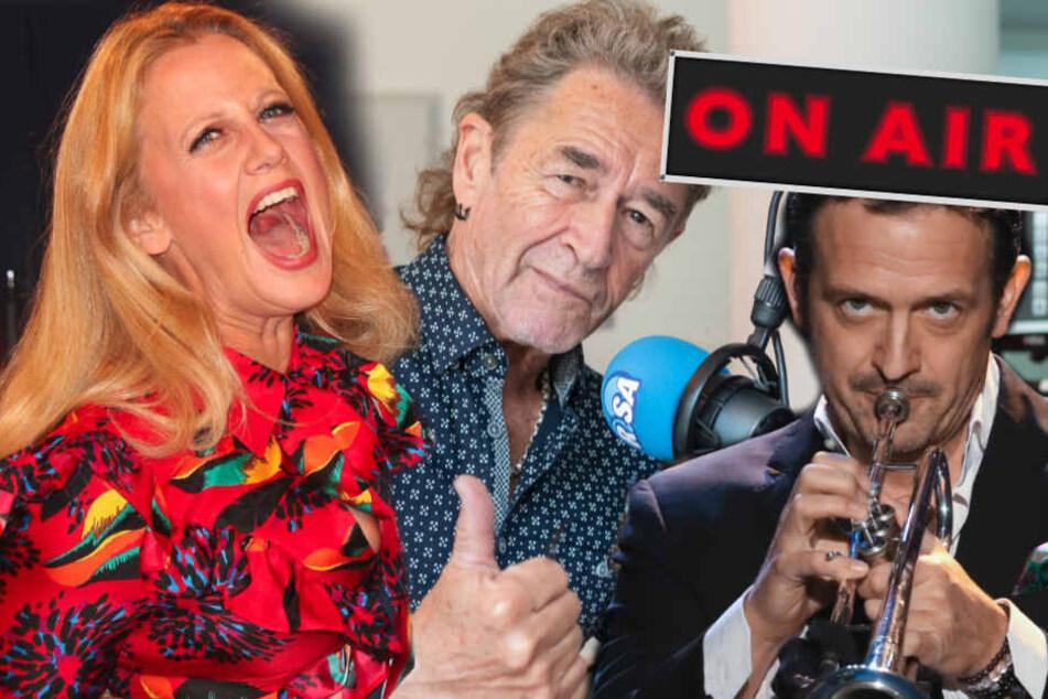 Wenn Stimmen zum Programm werden: Um neue Hörerschaften zu erschließen, werden Promis wie Barbara Schöneberger (45), Peter Maffay (70) und Till Brönner (48, v.l.n.r.) eigene Radiosendungen maßgenau auf den Leib geschneidert.