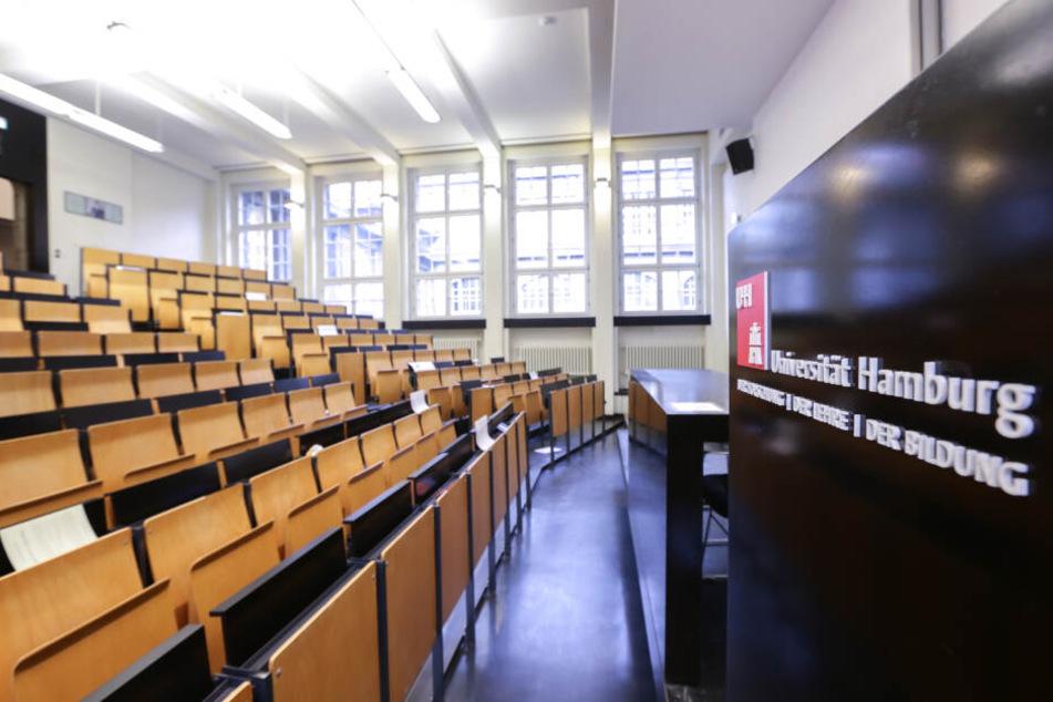 Blick in einen Hörsaal der Universität Hamburg.