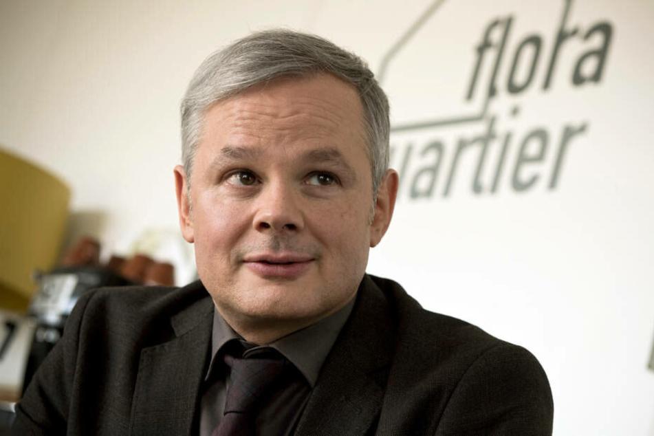 """Der Immobilienmakler Gebel (Marco Hofschneider) und sein Projekt """"Flora Quartier"""" rückt bald in den Fokus der Ermittlungen."""