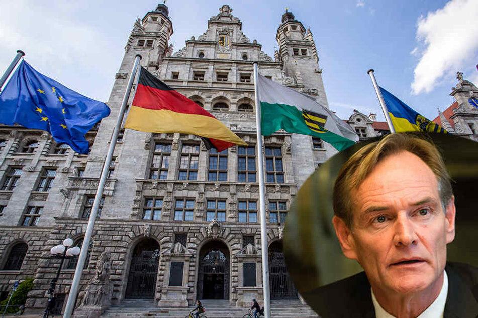"""Die Grünen werfen Oberbürgermeister Burkhard Jung (rechts unten) eine """"alles andere als Einstellung"""" vor."""