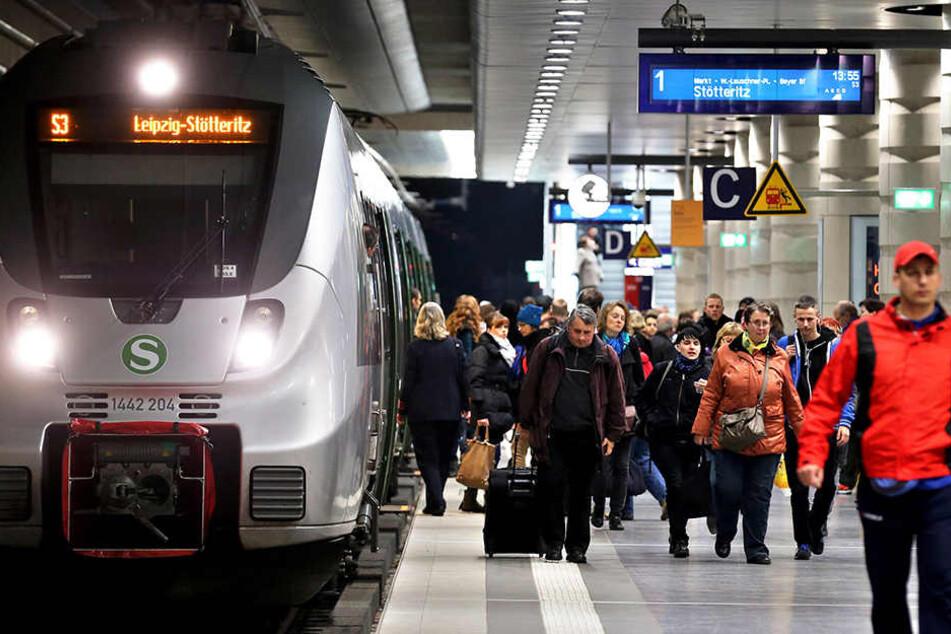 Die Station Hauptbahnhof im Leipziger City-Tunnel. Die Stadt wächst