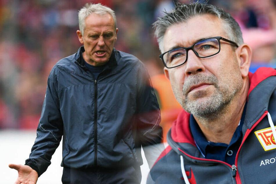 Urs Fischer (r) hat großen Respekt vor der Arbeit von Christian Streich (l).