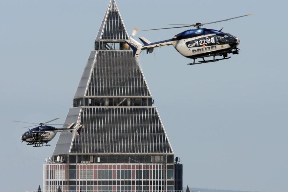 Auch über dem Messeturm sollen bald weniger Hubschrauber kreisen.