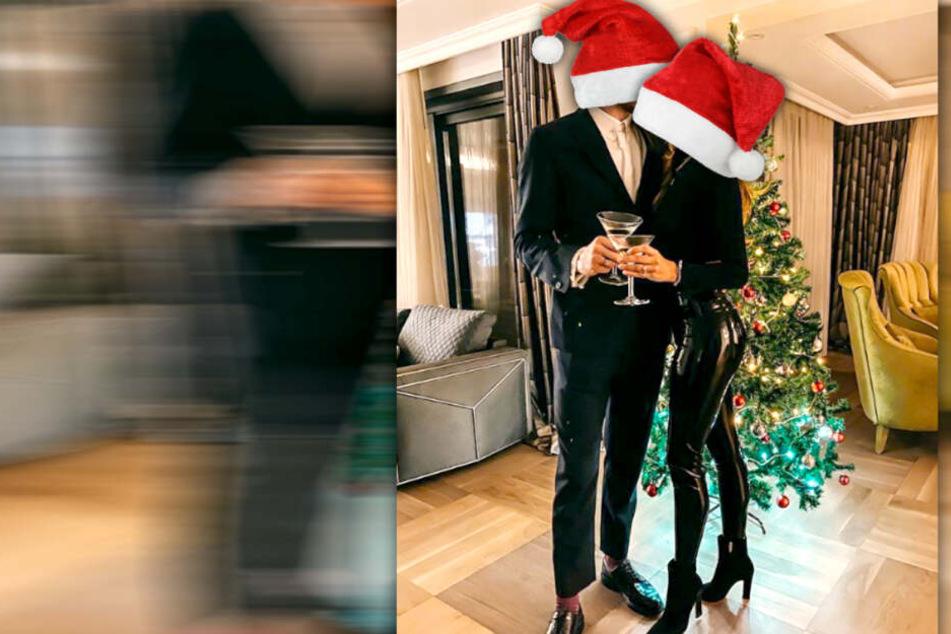 Betrunken in knallenger Lackhose: Wer feiert so sexy Weihnachten?