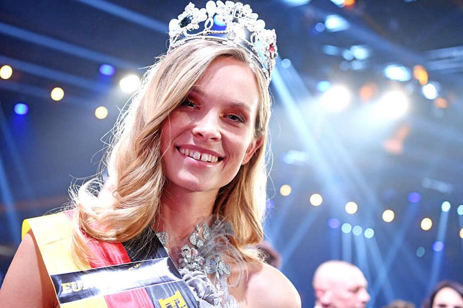 """Die amtierende Miss Germany Nadine Berneis (29) ist zwar """"Miss Baden-Württemberg"""", stammt aber aus Dresden."""