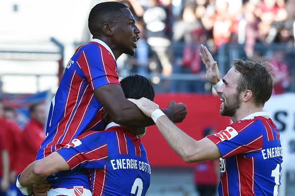 Fabio Viteritti (r.) machte gegen Lok Leipzig ein starkes Spiel, erzielte den 2:0-Endstand. (Archivbild)