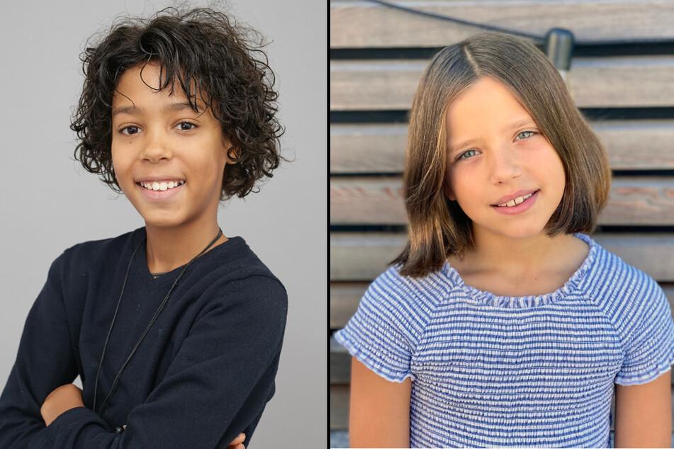 Spencer König (10) und Zoé Baillieu (9) sind selber schon auf dem Fernsehen bekannt. (Fotomontage)