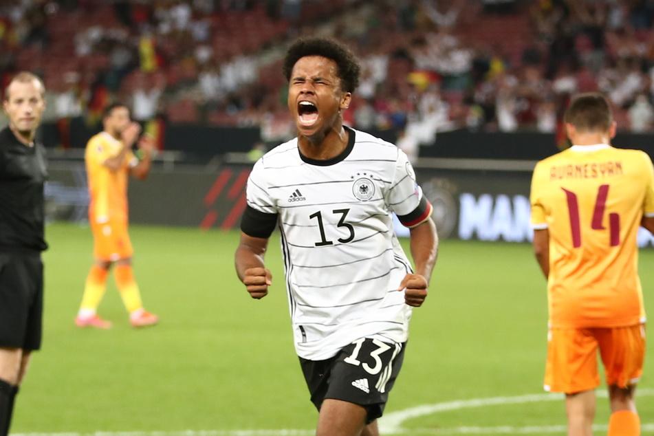 Karim Adeyemi (19) traf direkt in seinem ersten Spiel für die A-Nationalmannschaft.