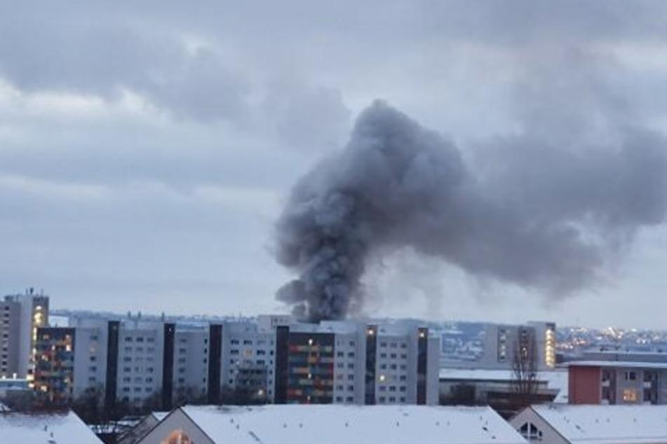 Auch in anderen Stadtteilen von Dresden konnte die starke Rauchentwicklung beobachtet werden.