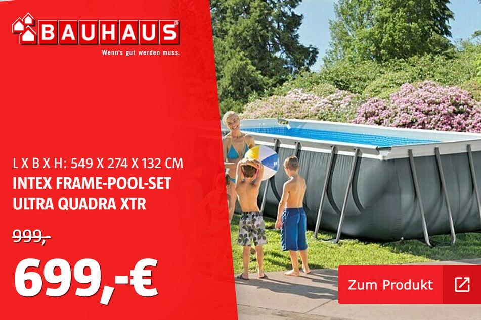 Pool mit Rohrgestell für 699 statt 999 Euro