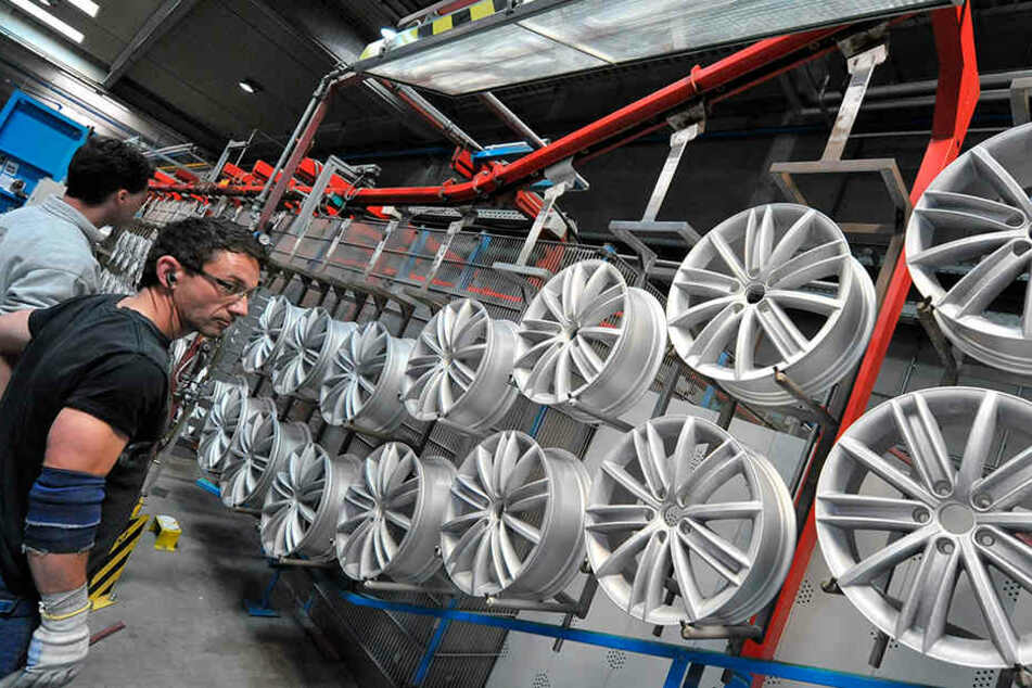 Borbet fertigt in Kodersdorf Leichtmetallfelgen. Der erste Spatenstich für das Werk war 2015.