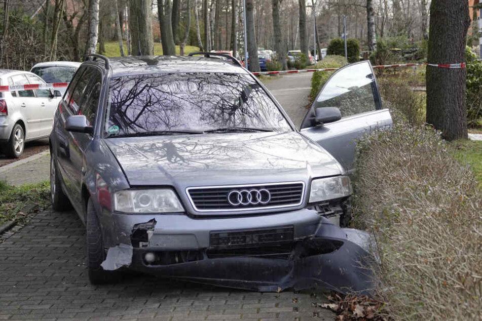 Der Fahrer stoppte den Auto auf einem Fußweg und floh dann in den Zeisigwald.