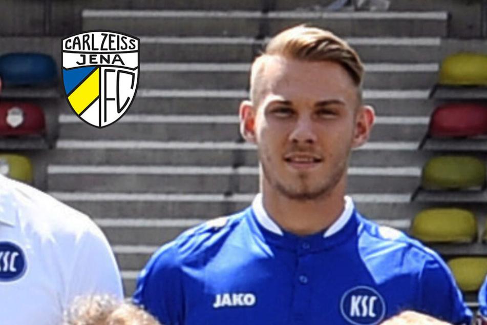 Pierre Fassnacht wurde beim KSC ausgebildet, wechselt nun nach Jena.