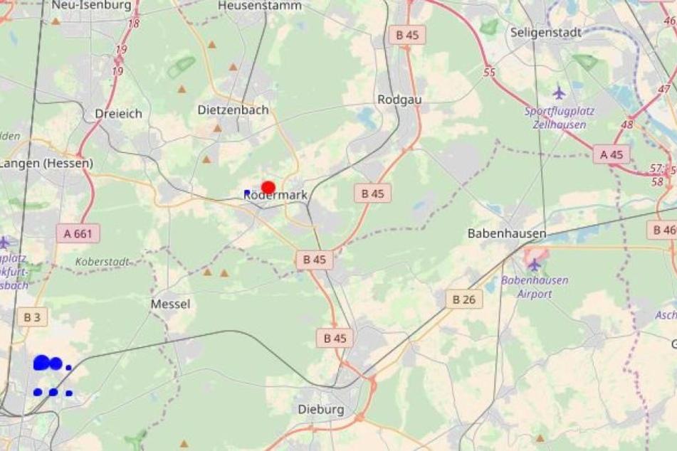 Bei Rödermark gab es am Vormittag ein Beben der Stärke 2,5.
