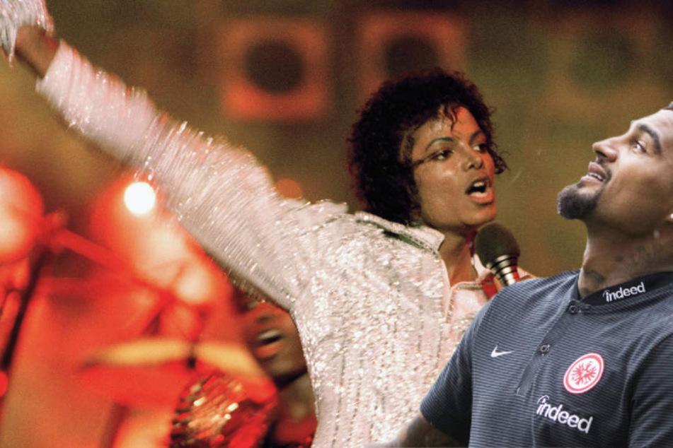 Starkicker Kevin-Prince Bateng (l.) hat offensichtlich auch die Mooves von Michael Jackson drauf.