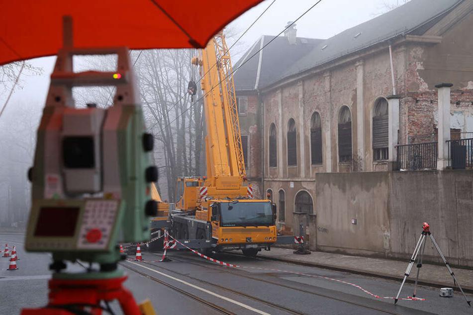 Das Gebäude des ehemaligen Lahmann-Sanatorium ist einsturzgefährdet.