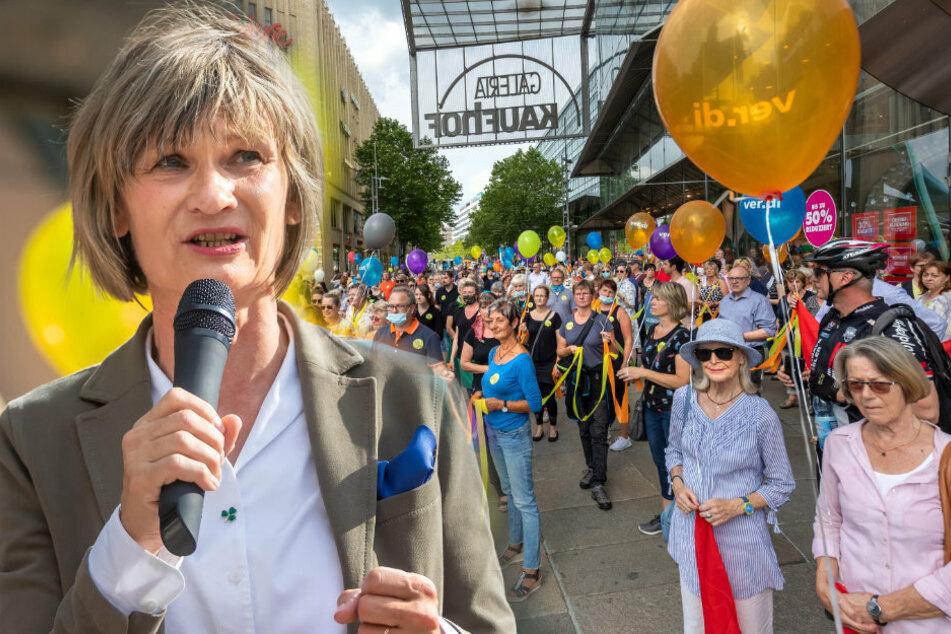 OB Ludwig protestiert mit Chemnitzern gegen Kaufhof-Schließung