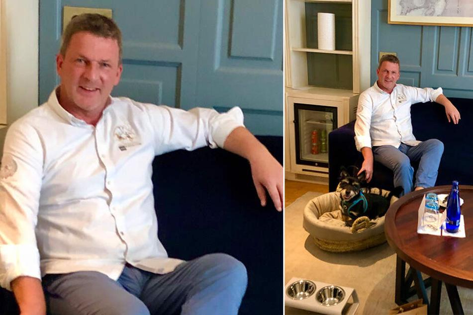 Hoteldirektor Sven Rasch (47) hat ein Herz für Vierbeiner, führt regelmäßig Tierheim-Hunde aus.