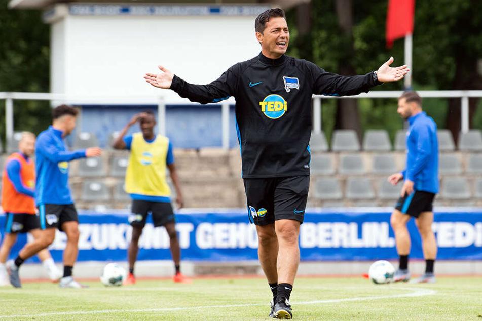 Ante Covic hat sein erstes Spiel als Hertha-Coach gewonnen.