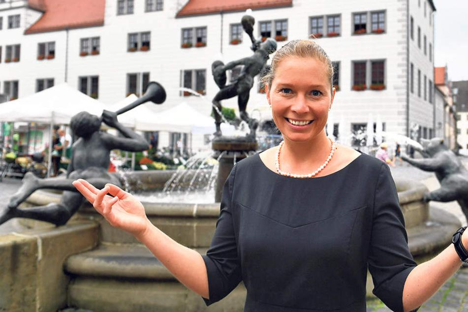 Erst 34 und schon viel Verantwortung: Romina Barth (CDU) ist Sachsens jüngste  Oberbürgermeisterin.