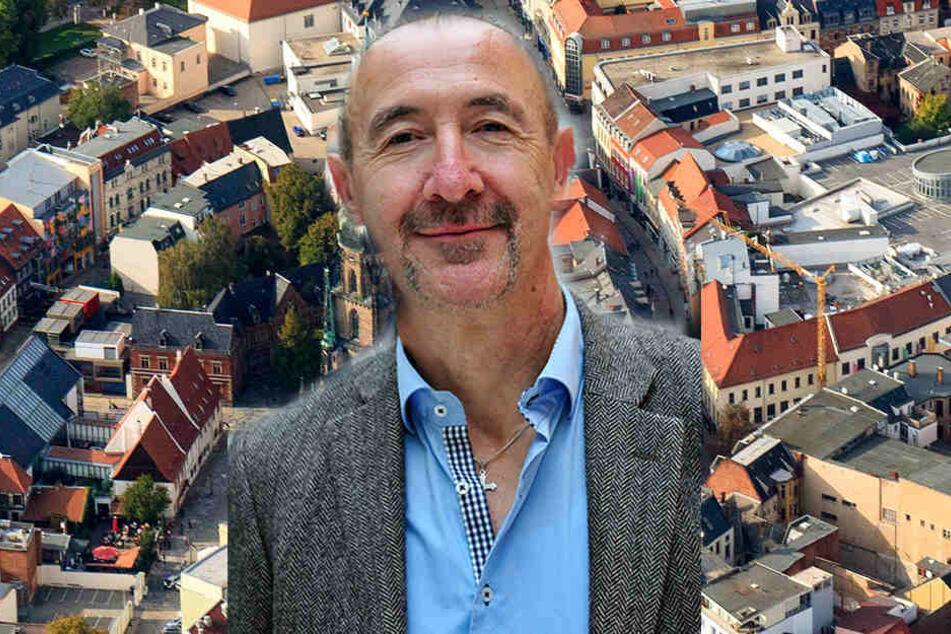 CDU-Stadtrat Friedrich Hähner-Springmühl (69) kämpft gegen die zunehmende Vermüllung der Zwickauer Innenstadt.