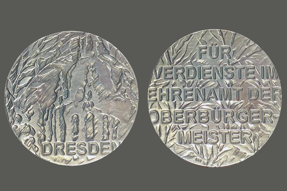 So sieht die neue Dresdner Ehrenmünze aus. Pro Jahr werden maximal zehn davon vergeben.