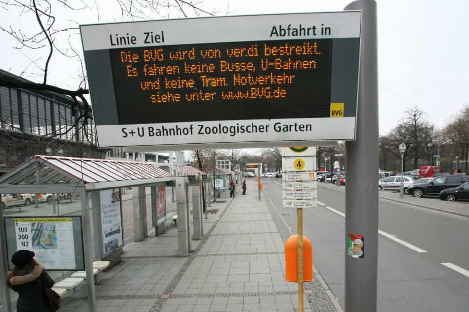 Berlin: Trotz BVG-Streik: Diese Buslinien fahren dennoch