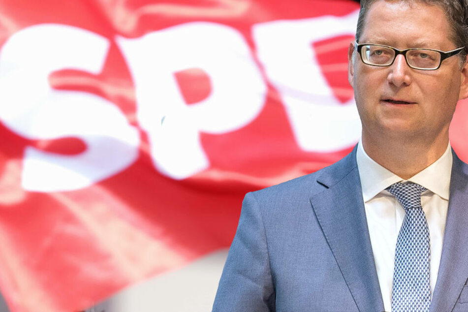 Thorsten Schäfer-Gümbel und die SPD (Fotomontage) könnten bei der Landtagswahl in Hessen erhebliche Verluste erleiden.