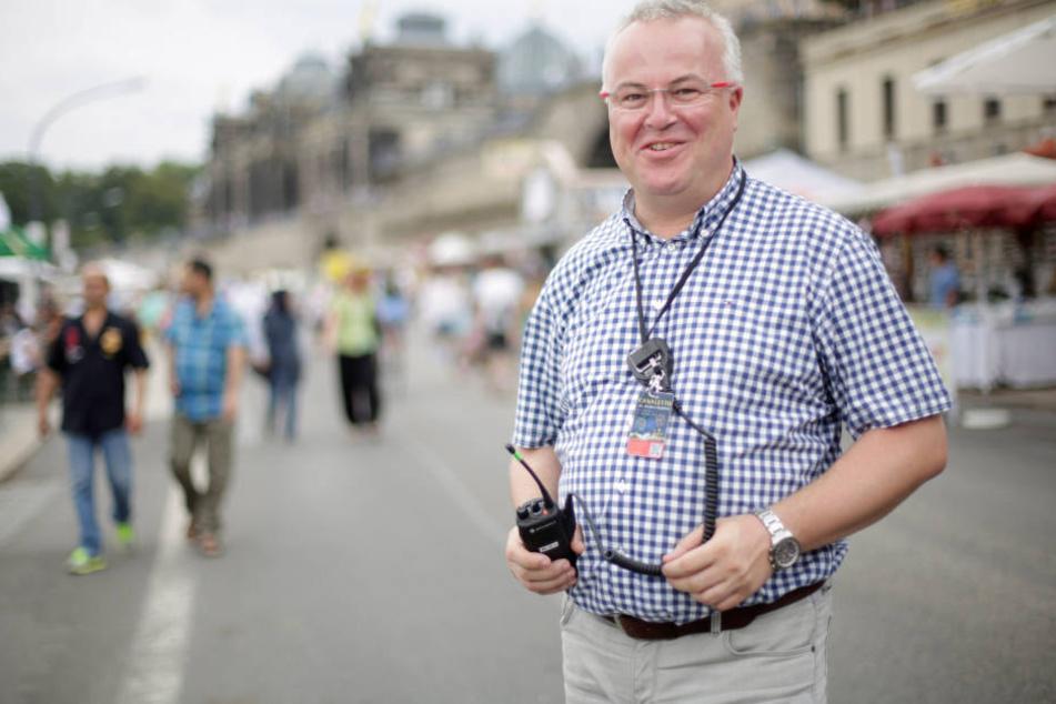 Hofft, dass das Stadtfest trotzdem toll wird: Sicherheitschef Frank Schröder.