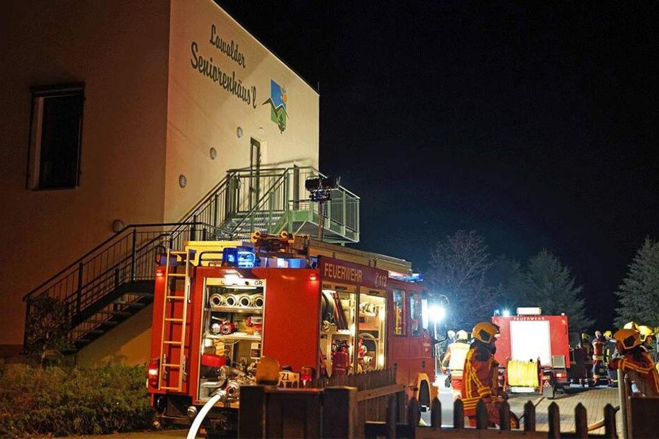 Mehrere Feuerwehren kamen in Lawalde zum Einsatz.
