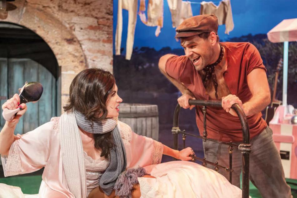 """Auch im Erfolgsstück """"Azzuro - Wie zähme ich einen Italiener"""" stand Köhler auf der Bühne, hier in der Rolle des Adriano."""