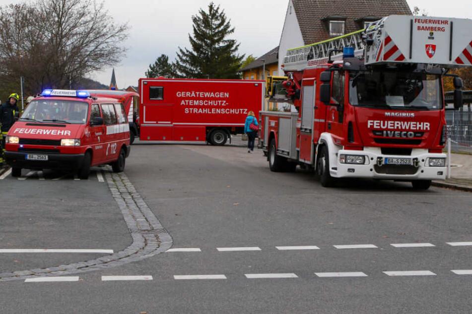 Die Feuerwehr musste aufgrund des Brandes mit einem Großaufgebot anrücken.