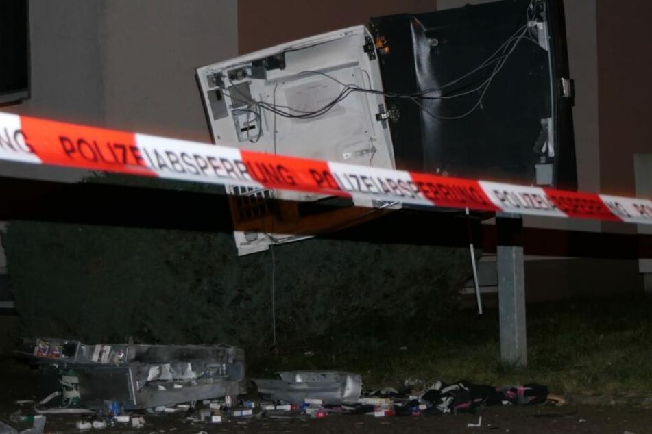 Leipzig: Heftige Explosion: Automat mit Pyrotechnik gesprengt