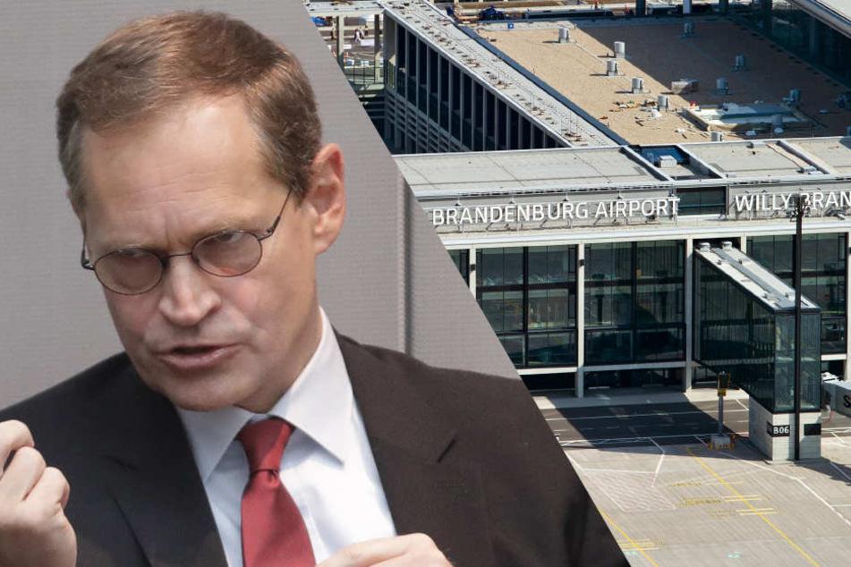 """Berlins Regierender Bürgermeister Michael Müller (SPD) muss sich """"Flughafen""""-Kritik aus den Reihend er CDU anhören."""