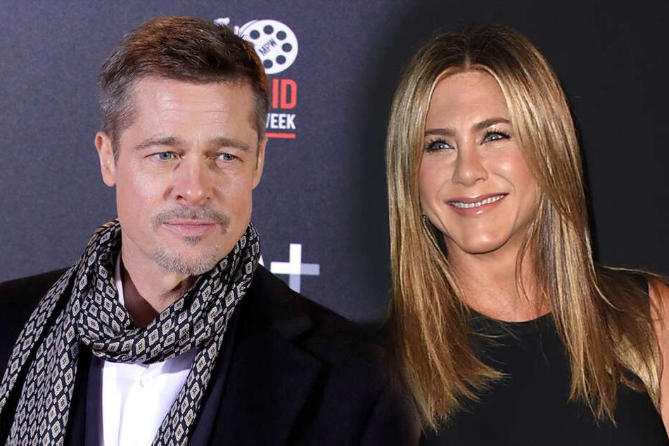 Geben sie der Liebe eine Chance? Die Hollywood-Stars Brad Pitt und Jennifer Aniston.