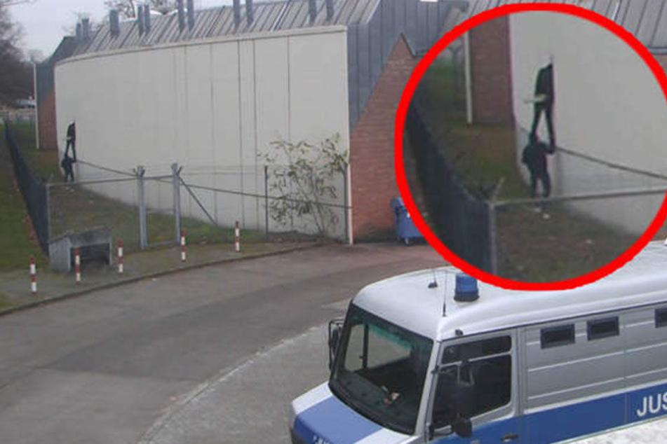 Überwachungskameras zeigen die spektakuläre Flucht.