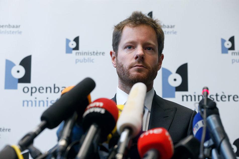Der Vertreter der Staatsanwaltschaft, Gilles Dejemeppe, spricht am 5. November 2017 im Büro der Staatsanwaltschaft in Brüssel bei einer Pressekonferenz.