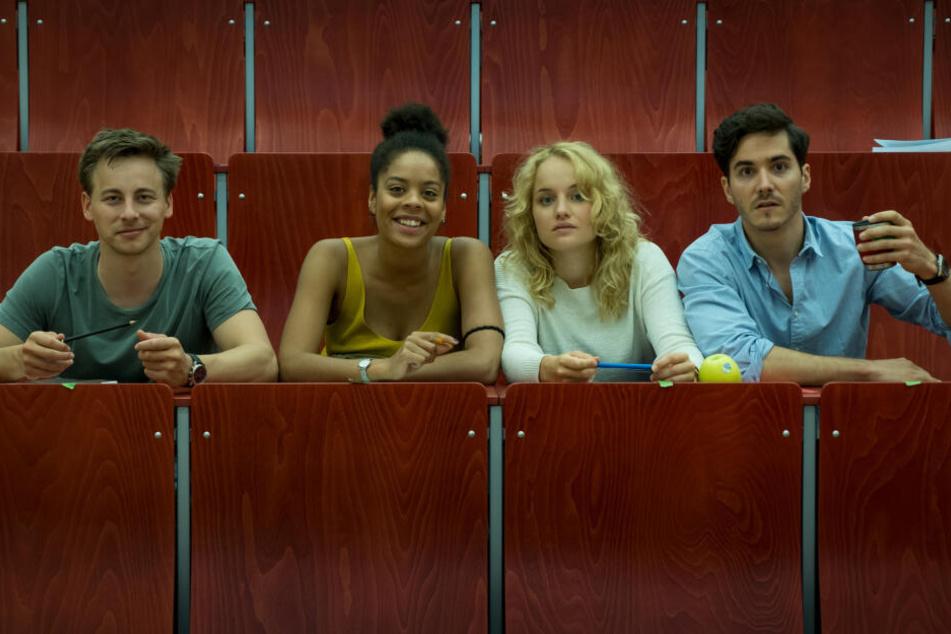 Vier Polizeischüler sind die Protagonisten der neuen ZDF-Serie.