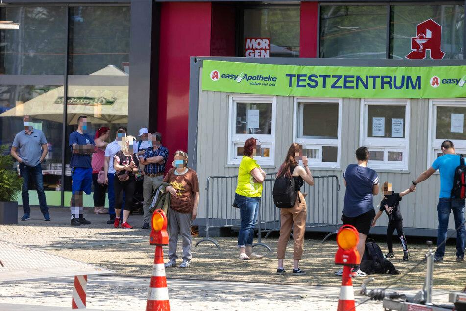 Mindestens 20 Teststationen sollen in der Stadt Chemnitz bleiben.