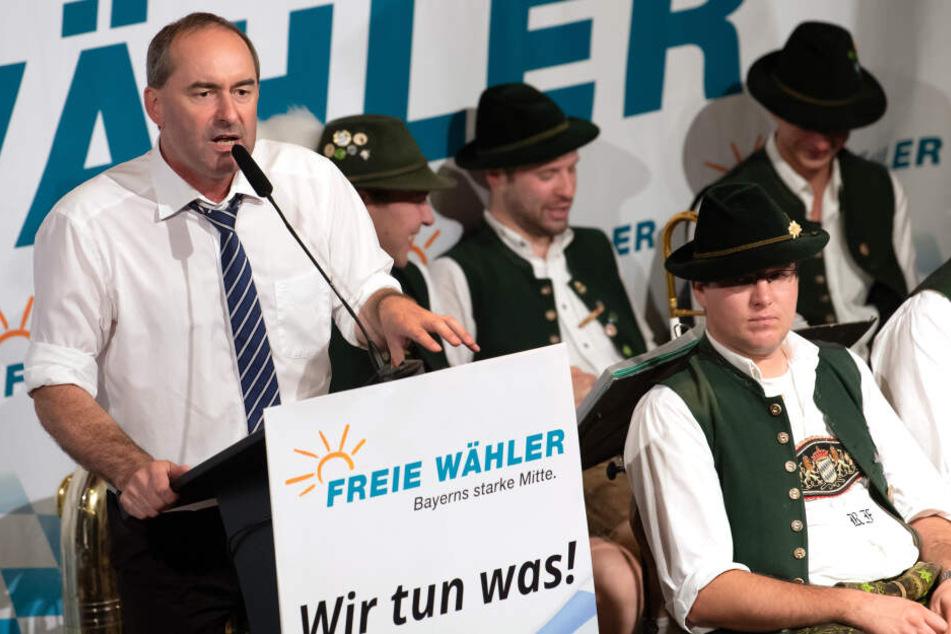 In seiner Rede hatte es Hubert Aiwanger (Freie Wähler) vor allem auf die Grünen abgesehen.