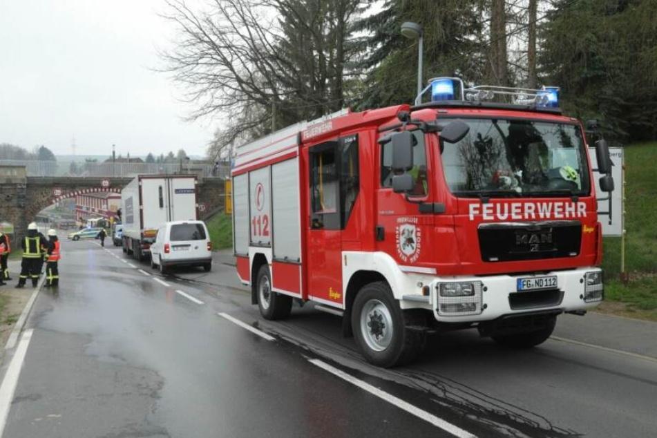 Am Montagmorgen kam es auf der Bundesstraße 173 bei Freiberg zu einem Auffahrunfall.